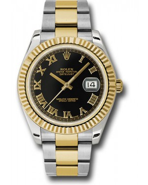 Exact Replica Rolex Datejust II 116333 bkro 41mm Steel and Yellow Gold Fluted Bezel Oyster