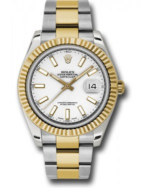 Exact Replica Rolex Datejust II 116333 wio 41mm Steel and Yellow Gold Fluted Bezel Oyster