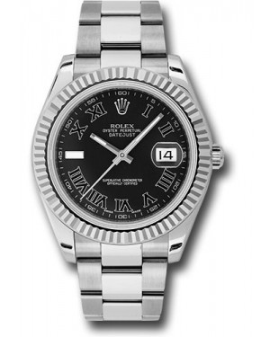 Exact Replica Rolex Datejust II 116334 bkrio 41mm Steel and White Gold Fluted Bezel Oyster