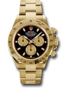 Exact Replica Rolex 116528 pnbk Daytona Yellow Gold Bracelet