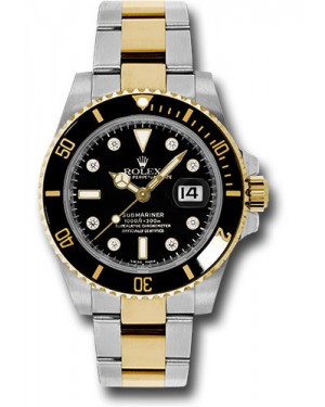 Exact Replica Rolex Submariner 116613 bkd Steel and Gold Watch