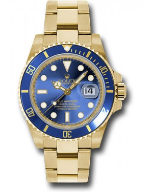 Exact Replica Rolex Submariner 116618 bl Gold Watch