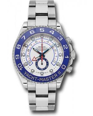 Replica Rolex Yacht-Master II Stainless Steel Matt White Dial 116680 Watch
