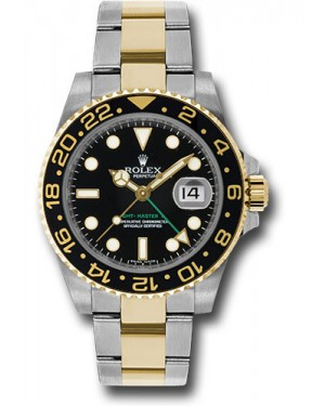 Exact Replica Rolex GMT-Master II 116713LN Steel and Gold Watch