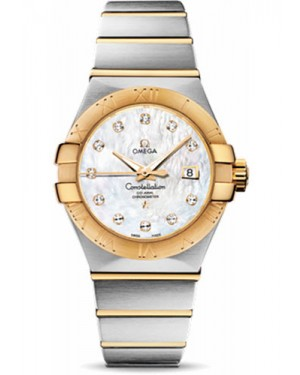 Replica Omega Constellation 31mm Steel and Yellow Gold 123.20.31.20.55.002
