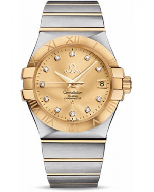 Replica Omega Constellation 35mm Steel and Yellow Gold 123.20.35.20.58.001