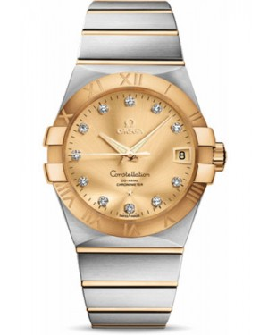 Replica Omega Constellation 38mm Steel and Yellow Gold 123.20.38.21.58.001