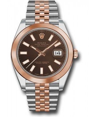 Replica Rolex Datejust 41 Steel & Pink Gold Chocolate Index Dial 126301