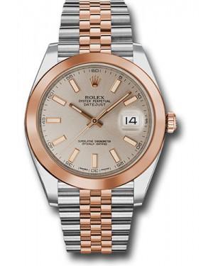 Replica Rolex Datejust 41 Steel & Pink Gold Sundust Index Dial 126301