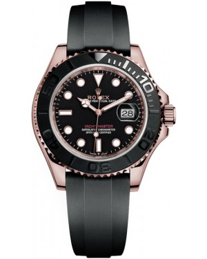 Replica Rolex Yacht-Master 40 Everose Gold Oysterflex 126655 Watch