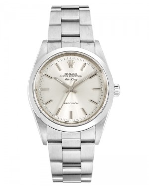 Replica Rolex Air-King 14000 Stainless Steel Silver Dial