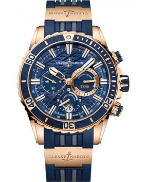 Replica Ulysse Nardin Diver Chronograph 44mm Rose Gold 1502-151-3/93