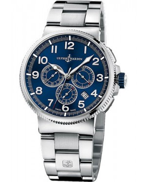 Replica Ulysse Nardin Marine Chronograph Manufacture Steel And Titanium Blue Dial 1503-150-7M/63