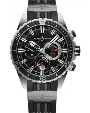 Replica Ulysse Nardin Diver Chronograph 44mm Stainless Steel Black Dial 1503-151-3/92