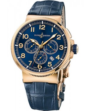 Replica Ulysse Nardin Marine Chronograph Manufacture Rose Gold 1506-150/63