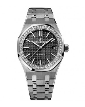 Exact Replica Audemars Piguet Royal Oak Lady Automatic 37mm Stainless Steel Black Dial 15451ST.ZZ.1256ST.01 Watch