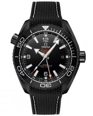 Replica Omega Planet Ocean GMT Deep Black 45.5mm 215.92.46.22.01.001