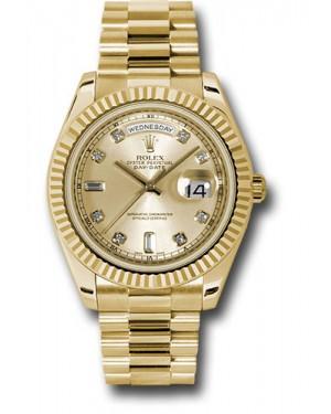 Exact Replica Rolex Day-Date II 218238 chdp Yellow Gold Fluted Bezel Watch