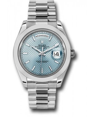 Exact Replica Rolex Day-Date 40 228206 ibdmip Platinum Watch