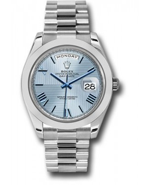 Exact Replica Rolex Day-Date 40 228206 ibqmrp Platinum Watch