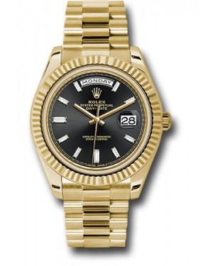 Exact Replica Rolex Day-Date 40 228238 bkbdp Yellow Gold Watch