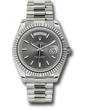 Exact Replica Rolex Day-Date 40 228239 rsmip White Gold Watch