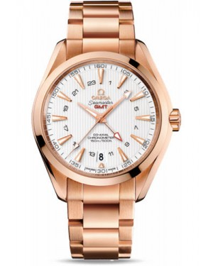 Exact Replica Omega Seamaster Aqua Terra 150M GMT 43 mm Red Gold 231.50.43.22.02.001 Watch