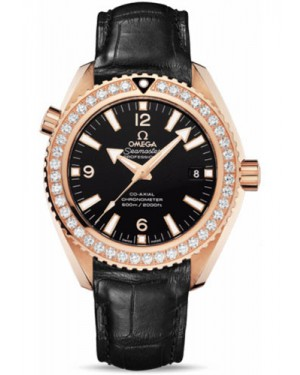 Exact Replica Omega Seamaster Planet Ocean 600M Co-Axial 42mm Red Gold Leather Strap 232.58.42.21.01.001 Watch