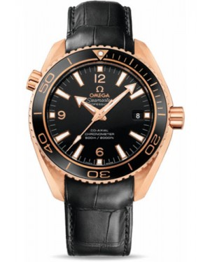Exact Replica Omega Seamaster Planet Ocean 600M Co-Axial 42mm Red Gold Leather Strap 232.63.42.21.01.001 Watch