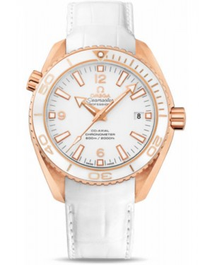 Exact Replica Omega Seamaster Planet Ocean 600M Co-Axial 42mm Red Gold Leather Strap 232.63.42.21.04.001 Watch