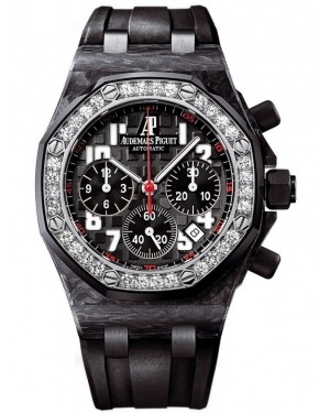 Exact Replica Audemars Piguet Royal Oak Offshore Lady Chronograph Carbon 26267FS.ZZ.D002CA.02 Watch