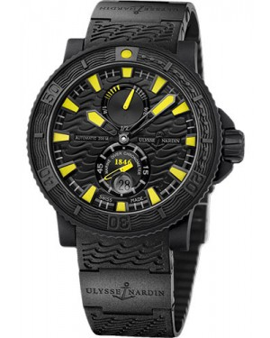 Replica Ulysse Nardin Diver Black Sea Blue Sea Yellow Index 263-92-3C/924