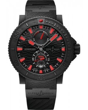 Replica Ulysse Nardin Diver Black Sea Blue Sea Red Index 263-92-3C
