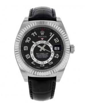 Replica Rolex Sky-Dweller White Gold Black Dial 326139 Watch
