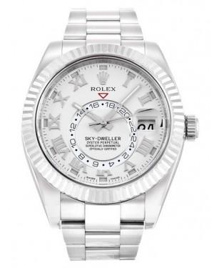 Replica Rolex Sky-Dweller White Gold Ivory Dial 326939 Watch