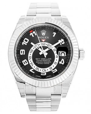 Replica Rolex Sky-Dweller White Gold Black Dial 326939 Watch