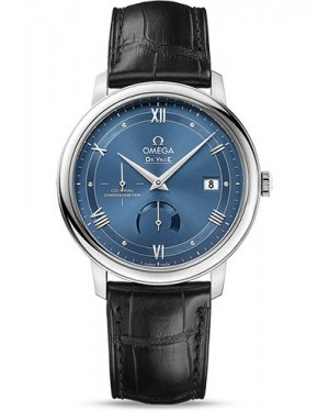 Exact Replica Omega De Ville Prestige Co-Axial Power Reserve 39.5 mm Stainless Steel Blue Dial 424.13.40.21.03.002 Watch