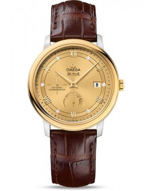 Exact Replica Omega De Ville Prestige Co-Axial Power Reserve 39.5 mm Steel And Yellow Gold 424.23.40.21.58.001 Watch