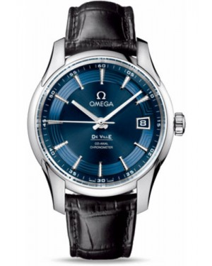 Exact Replica Omega De Ville Hour Vision Co-Axial 41mm Stainless Steel Blue Dial 431.33.41.21.03.001 Watch