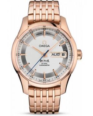 Exact Replica Omega De Ville Hour Vision Co-Axial Annual Calendar 41mm Red Gold Silver Dial 431.60.41.22.02.001 Watch