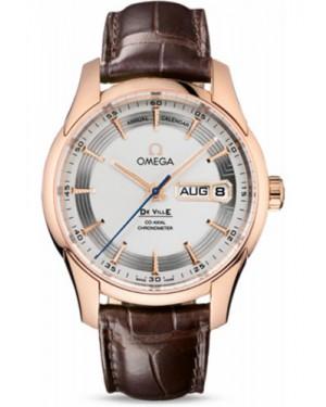 Exact Replica Omega De Ville Hour Vision Co-Axial Annual Calendar 41mm Red Gold Silver Dial 431.63.41.22.02.001 Watch