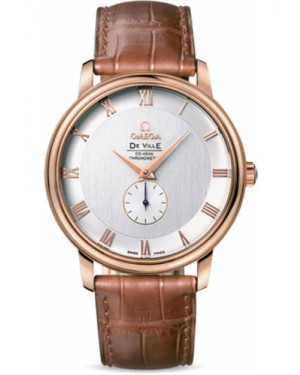 Exact Replica Omega De Ville Prestige Co-Axial Small Seconds 39 mm Red Gold 4614.30.02 Watch