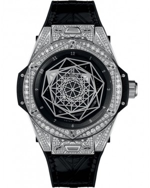 Replica Hublot Big Bang Sang Bleu Pave Diamonds 465.SS.1117.VR.1704.MXM18 Watch