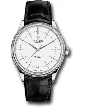 Replica Rolex Cellini Time White Gold White Dial 50509 wbk Watch
