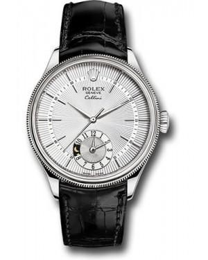Replica Rolex Cellini Dual Time Silver Dial 50529 sbk Watch