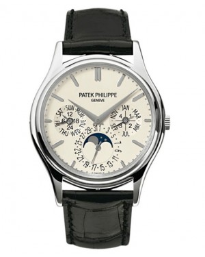 Replica Patek Philippe Perpetual Calendar Moonphase 5140G-001 Grand Complications White Gold White Dial Watch