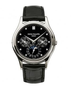 Replica Patek Philippe Perpetual Calendar Moonphase 5140P-013 Grand Complications Black Sunburst Dial Watch