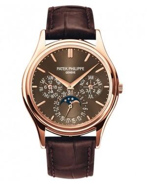 Replica Patek Philippe Perpetual Calendar Moonphase 5140R-001 Grand Complications Brown Sunburst Dial Watch
