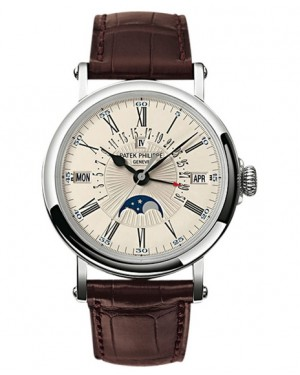 Replica Patek Philippe Perpetual Calendar Moonphase 5159G-001 Grand Complications White Gold Watch