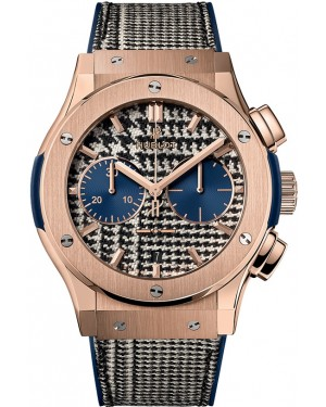 Replica Hublot Classic Fusion Chronograph Italia Independent Pieds de Poule King Gold 521.OX.2704.NR.ITI17